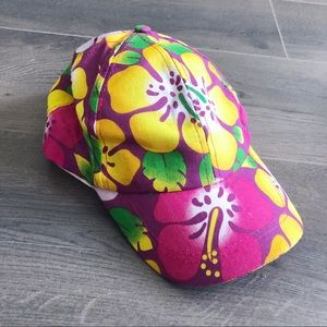 Accessories - Super cute floral summer snapback hat!